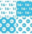 16 plus patterns set vector image vector image