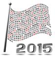 2015 Flag Calendar vector image