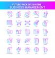 25 blue and pink futuro business management icon vector image