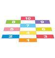 a set of colourful number vector image vector image
