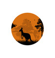 A silhouette of a camel in