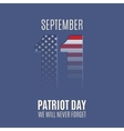abstract patriot day background template vector image