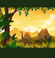 beautiful prehistoric vector image vector image