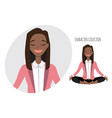 Beautiful young black african american woman relax vector image