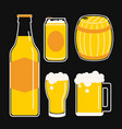 beer icon line cartoon vector image vector image