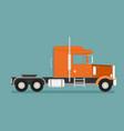 big semi truck flat trendy vector image vector image