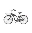 black bicycle realistic 3d isolated mockup vector image vector image