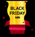 black friday red box on a light black background vector image vector image