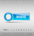 Blue Plastic Button vector image vector image