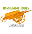 bright colorful cartoon wheelbarrow vector image