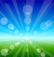 Bright sunny landscape vector image vector image