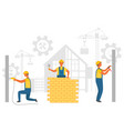 builder working construction equipment vector image
