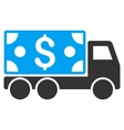 Cash Delivery Flat Icon vector image vector image