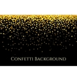 Christmas gold glitter confetti horizontal pattern vector image vector image
