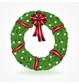 Christmas Holiday Wreath Isolated on White vector image vector image