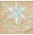 Christmas polka dot card with snowflake EPS 10 vector image