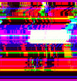 colorful glitch art background vector image vector image