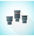 colorful telescope eyepieces collection vector image