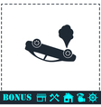 Crash car icon flat vector image
