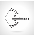 Crossbow black line icon vector image vector image