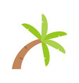 curve palm tree icon flat design on white vector image vector image