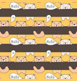 cute bear pattern background vector image vector image
