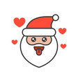 cute santa claus emoticon filled outline design vector image vector image