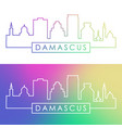 damascus skyline colorful linear style editable vector image vector image