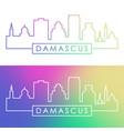 damascus skyline colorful linear style editable vector image