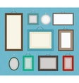 Different color blank picture frame template vector image vector image