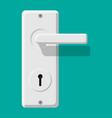 door handle and lock chrome doorknob vector image