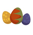 dragon eggs in color shell mysctic creature vector image vector image