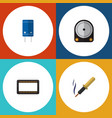 flat icon electronics set of hdd mainframe vector image vector image
