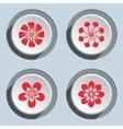 Flower icon set Dahlia aster daisy chamomile vector image vector image