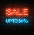 glowing neon big sale sign inviting banner with vector image vector image