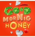 Good morning honey vector image