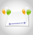 greeting card with balloons in national colors vector image vector image