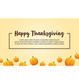 happy thanksgiving style background with pumpkin vector image