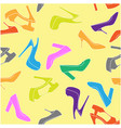 high-heeled shoe seamless background - fashion vector image