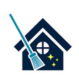 house clean logo cleaning logo house service vector image vector image