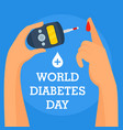 human diabetes day concept background flat style vector image vector image