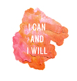 i can and i will vector image vector image