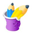 icon pencil vector image vector image