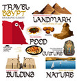 infographic elements for traveling to egypt vector image