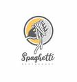 italian spaghetti logo design idea vector image vector image