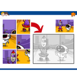 jigsaw puzzle activity with robots