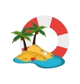 life preserver and tropical island icon vector image vector image