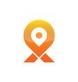 Location map logo vector image vector image