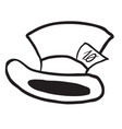 mad hatters hat black vector image