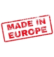 Made In Europe Rubber Stamp vector image vector image